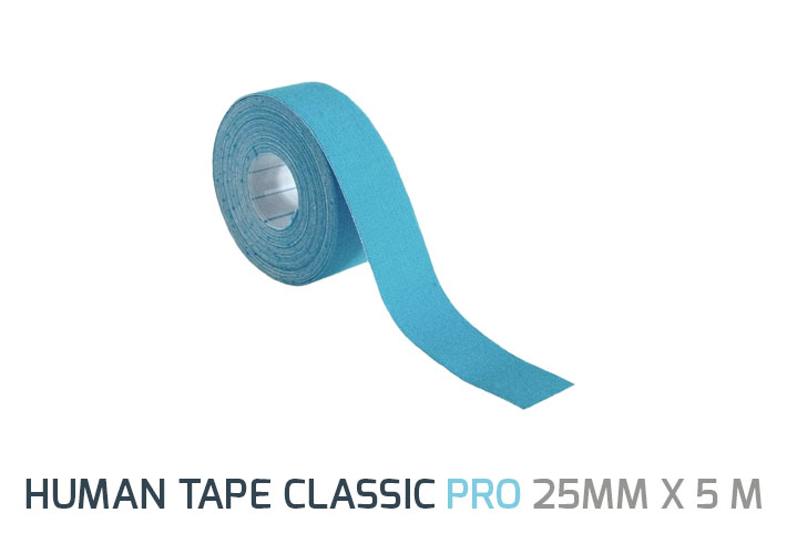Human Tape PRO 2,5 cm is made of smaller size. So there is no need to cut the tape for applications that go on around the muscle, by applying the tape on the muscle border. </br> <b>Size: </b>25mm x 5 m </br><b>Colors:</b> Blue Beige